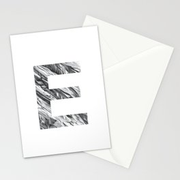 The Letter E- Stone Texture Stationery Cards