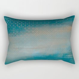 ABUR with Gold on Turquoise Rectangular Pillow