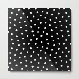 Black And White Polka Dot Metal Print