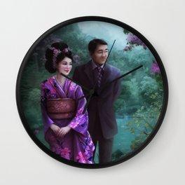 Sakura Garden Wall Clock