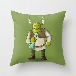 Ogre Smoking Throw Pillow