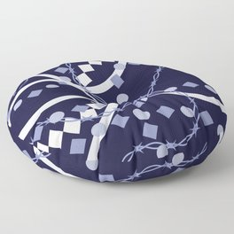 Classic barbed spindle Floor Pillow