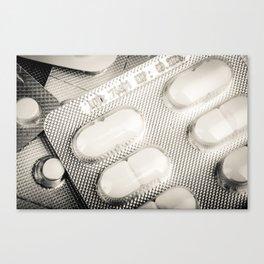 Medicine Pills Background Canvas Print