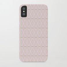 Pink Geometric Lines Slim Case iPhone X