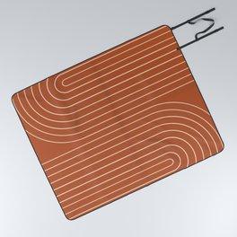 Minimal Line Curvature IX Picnic Blanket