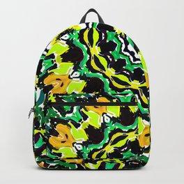 Orange Yellow and Green Kaldeidoscope 2 Backpack