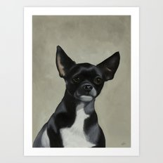 Jet the Dog Art Print
