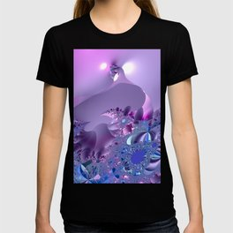 Stormy fractal waters and the lighthouse T-shirt