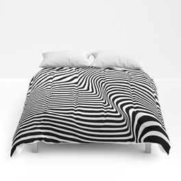 Abstract Lines Comforters
