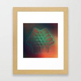 Geo Grit Framed Art Print