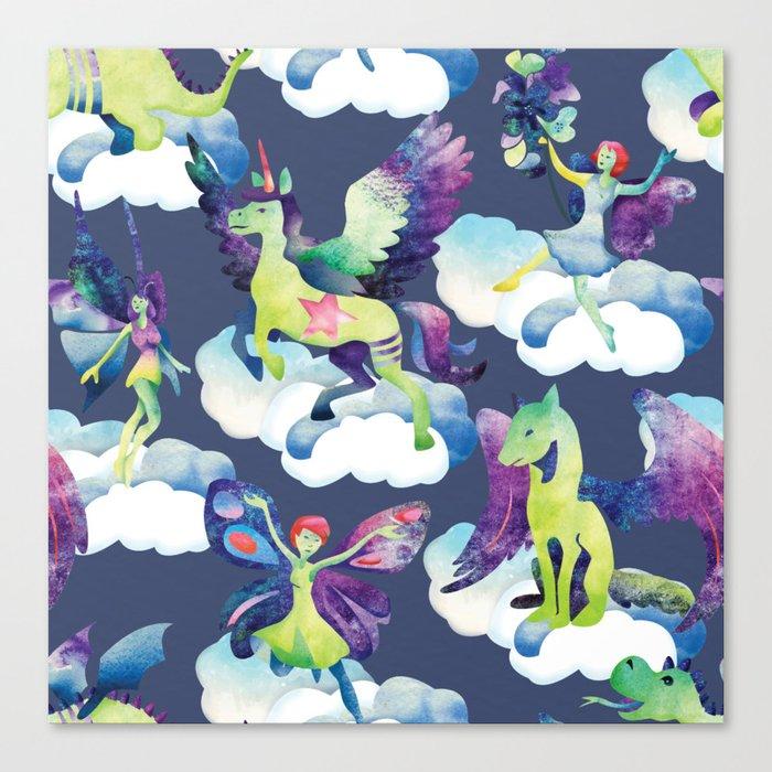 Fly into my dreams Canvas Print