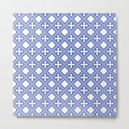 Chinese Tile Metal Print