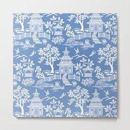 Chinoiserie Pagoda Metal Print