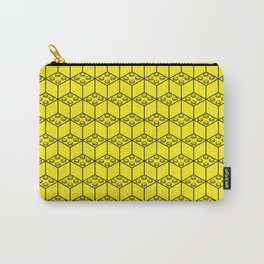 building brick blocks yellow Carry-All Pouch