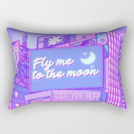 Moon City Rectangular Pillow