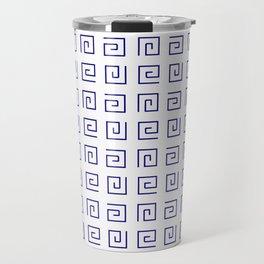 Antic pattern 21- roman or greek pattern - blue Travel Mug