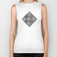 triangles Biker Tanks featuring TRIANGLES by THE USUAL DESIGNERS