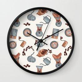 Coffee cappuccino latte morning print  Wall Clock