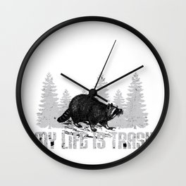 Raccoon Life Trash Ringtail Coon Raton Animal Gift Wall Clock