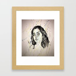 Lauren Jauregui Painting ( Fan Art piece) Framed Art Print