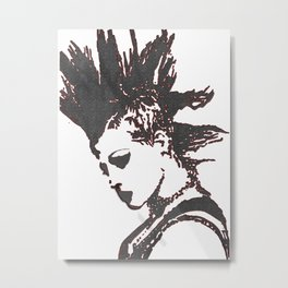Punk Girl Metal Print