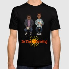 Troy And Abed In the Morning Mens Fitted Tee Black MEDIUM
