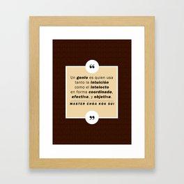 Ser genio Framed Art Print