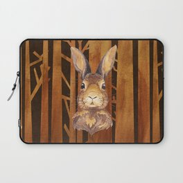 Rabbit in the forest - abstract animal hare watercolor illustration Laptop Sleeve