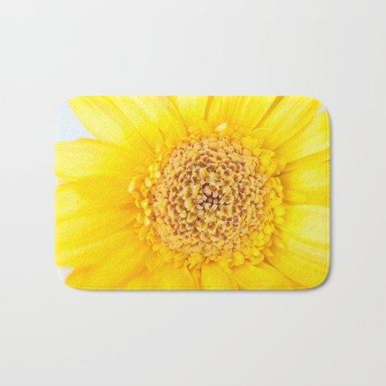 Sunny Summer Love - Yellow Gerbera #1 #decor #art #society6 Bath Mat