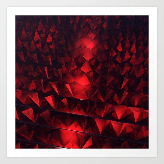 Ruby Abstract Art Print