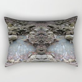 Mirrored Riverbed Rectangular Pillow