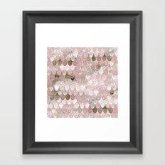 SUMMER MERMAID NUDE ROSEGOLD by Monika Strigel Framed Art Print
