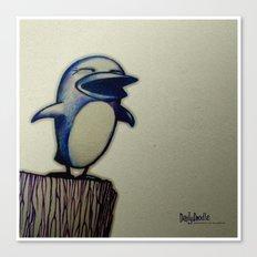 Daily Doodle - Linux Canvas Print