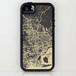 San Diego Map yellow iPhone Case
