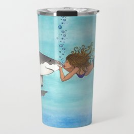 The Shark and the Mermaid Travel Mug