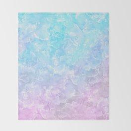 Pastel Scaly Marble Texture Throw Blanket