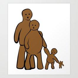 Mud Family Art Print