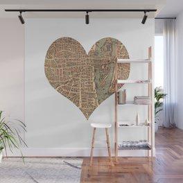 heart map 4 Wall Mural