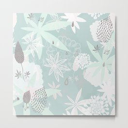 Lovely Lupins Seamless Repeating Pattern Metal Print