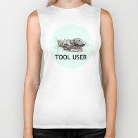 tool Biker Tanks featuring Tool User by ewig