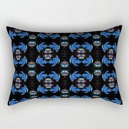 Siamese fighting fish & shiny bubbles Rectangular Pillow