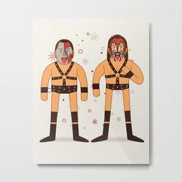 Demolished (Pro Wrestler Illustration) Metal Print