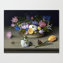 Ambrosius Bosschaert the Elder Flower Still Life Canvas Print