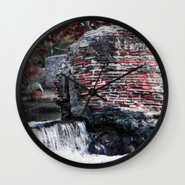 Mission Dam in the Fall Wall Clock