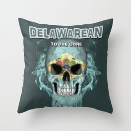 To The Core Collection: Delaware Throw Pillow