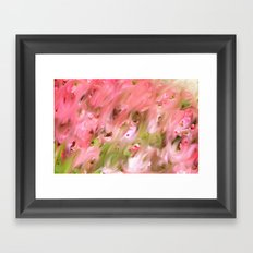 Flowers Field Framed Art Print