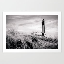 Cape Henry Lighthouse the 2nd (B&W) Art Print