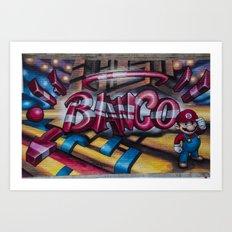 Super Mario Banco Streetart Art Print