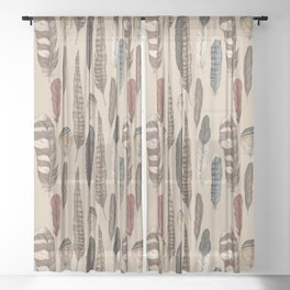 Feathers Sheer Curtain