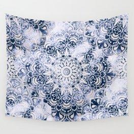 MANDALA WONDERLAND IN BLUE Wall Tapestry